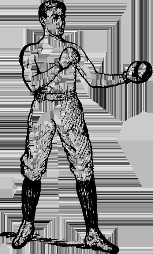 Retro boxer illustration